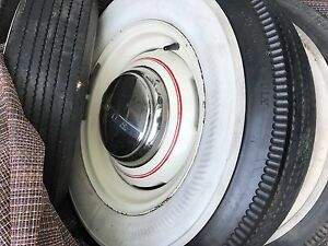1940s 1950s Ford Bf Goodrich Silvertown Wheels Tires Hubcaps Set 5 6 50 16 4ply