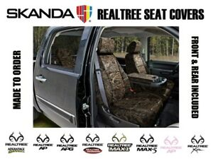 Coverking Solid Realtree Camo Front Rear Custom Seat Covers For Chevy Colorado