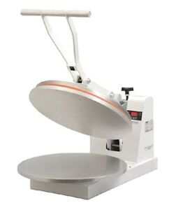 Doughxpress Dm 18 120 Manual Heated Pizza Dough Press 18 Clamshell Design