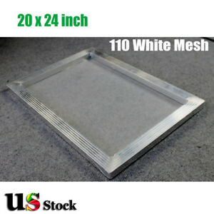 Usa 6pcs 20x24 Inch Aluminum Screen With 110 White Mesh For Screen Printing