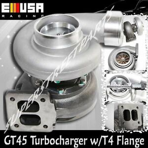 Gt45 Huge Gt45 Turbo turbocharger 600 hp Boost Universal T4 t66 3 5 V band 1 05