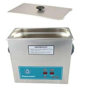 Crest Powersonic Ultrasonic Cleaner 1 Gallon Timer Heat P360h 45 Basket