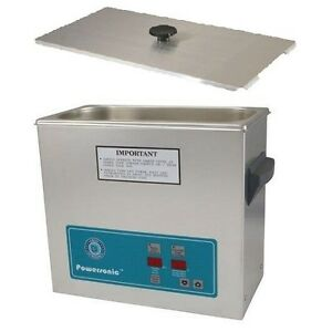 Crest Powersonic Ultrasonic Cleaner 1 5 Gallon Timer Heat P500h 45 Basket