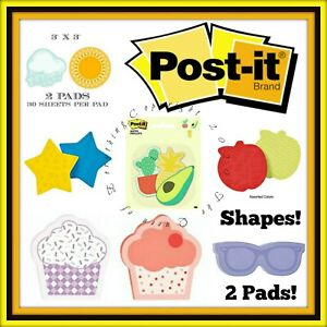 Post It Sticky Notes Shapes All A 2 Pack Teachers Students Office Supplies