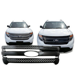 Black Trim Grille Overlay For 2011 2012 2013 2014 2015 Ford Explorer