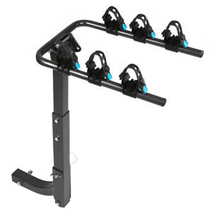 3 Bike 2 Hitch Mount Rear Rack Foldable Car Carrier Truck Trailer Bicycle