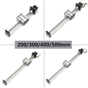 Cnc Linear Actuator Stage Lead Screw Z Axis Slide 200 500mm Travel nema42 Motor