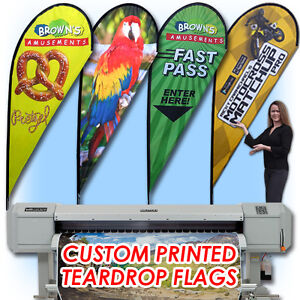 11 Full Color Custom Flag Teardrop Advertising Sign Blade Banner pole