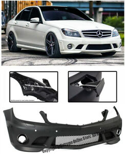 Amg Style Replacement Front Bumper Cover For 08 11 Mb W204 C Class Sedan W Pdc