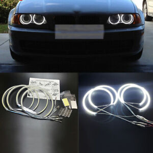 4pc Ccfl Led Angel Eyes Lamp Kit Halo Ring Car Headlight For Bmw E36 E38 E39 E46