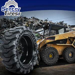 12x16 5 Sentry Tire 2 Skid Steer Solid Tires W Wheels 33x12 20 For Thomas