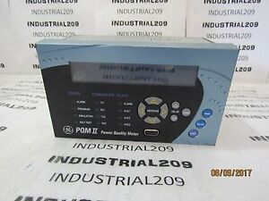 General Electric Pqm Ii Power Quality Meter Used