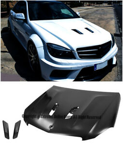 507 Edition Black Series Style Front Bumper Upper Vented Hood For 12 15 W204 C63