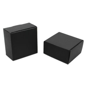 Black Kraft Paper Box For Candy Jewelry Packaging Wedding Party Gift Art Storage