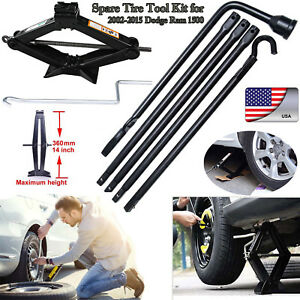 02 15 Dodge Ram 1500 2t Scissor Jack spare Tire Lug Wrench Tool For Pickup Truck