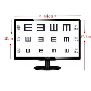 1pc 19 inch Tft Liquid Crystal Visual Acuity Chart Projector Computer Eye Chart