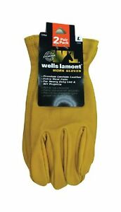 Wells Lamont 1209ln Universal Large Leather Work Gloves Yellow