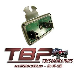 1966 1977 Early Ford Bronco Electronic Instrument Cluster Voltage Regulator