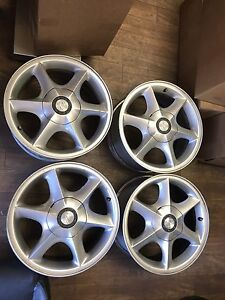 2001 2002 Oldsmobile Aurora Wheel Rim Set 16 Oem 6039 6 Spoke Centercap