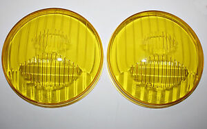 Citroen Ds Hood Frog Eye Lights Original Cibi Two Yellow Glasses Cibie New 154