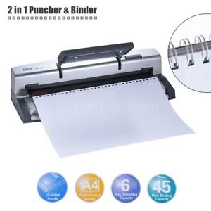 U shape Handle A4 Paper Puncher Binder Punch Wire Binding Machine 34 32hole L4y7