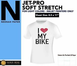 Inkjet Iron On Heat Transfer Paper Neenah Jetpro Sofstretch 8 5 X 11 100 Pk