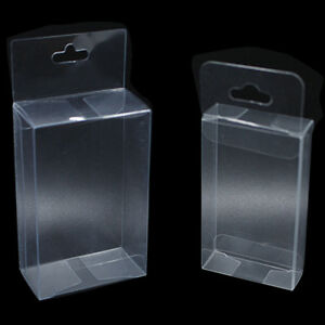 Clear Plastic Pvc Box With Hang Hole Craft Party Gift Candy Favor Packaging Box