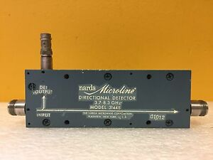 Narda 3144b 3 7 To 8 3 Ghz 17 Db Type N f To Bnc f Directional Detector