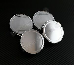 Replacement Wheel Center Caps Covers Chrome Silver No Logo Universal 76mm G6