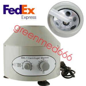 110 220v Electric Centrifuge Machine Lab Medical Practice 110v 4000 Rpm 20ml X 6