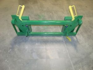 Euro Global Loader To Skid Steer attachments Adapter Green