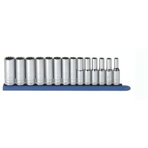 Gearwrench 80562 14pc 3 8 quot Dr 12pt Deep Metric Socket Set