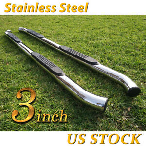 For 05 19 Nissan Frontier Crew Cab 3 Running Boards Side Step Nerf Bar S S Oval