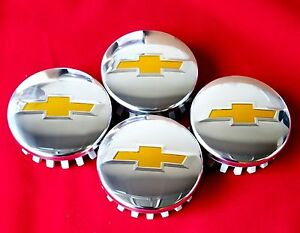 4 Chevy Center Hub Caps Polished Tahoe Suburban Silverado 2014 2017 3 25 83mm