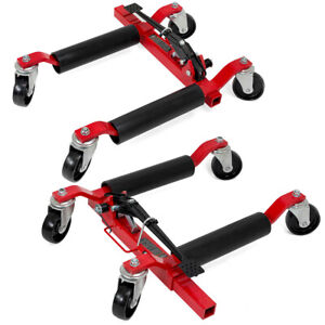 1pair Car Truck 2500 Lb Vehicle Positioning Wheel Dolly Moving Auto Tire Lift