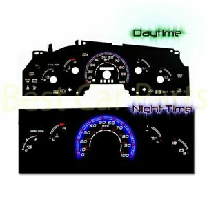Black Indiglo Gauge Kit Glow Blue Reverse For 97 98 Ford F 150 F150 W O Tach Rpm