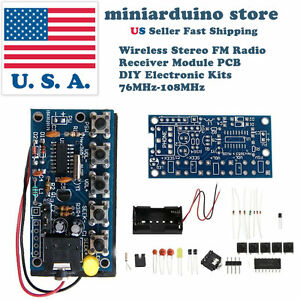 Wireless Stereo Fm Radio Receiver Module Pcb Diy Electronic Kits 76mhz 108mhz