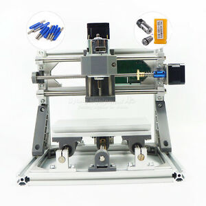 Mini Cnc 1610 Pro Desktop Pcb Milling Machine Diy Hobby Wood Router Grbl Control