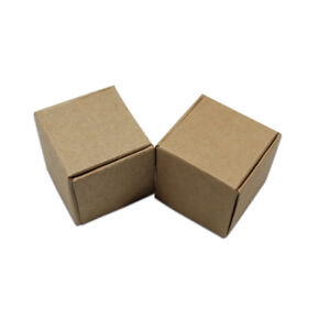 Brown Kraft Paper Box For Gift Candy Jewelry Packaging Boxes Wedding Party Favor