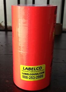 Fl Red Labels For Monarch 1130 Price Gun New free Freight 10 Rolls Of 2 500