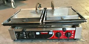 Sirman Commercial Double Grooved Sandwich Panini Press Cast Iron