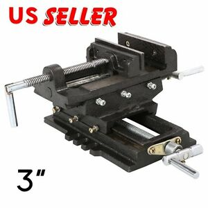 3 Cross Drill Press Vise Slide Metal Milling 2 Way X y Clamp Machine Ek