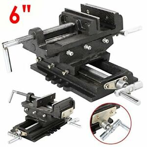 6 Cross Slide Vise Wide Drill Press Clamp Milling Heavy Duty Bench Mount Ek