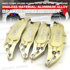 Metal 3d Endless Universal Style Brake Caliper Cover Front Rear 4x Gold 10 5 W4