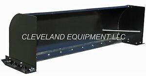 New 96 Snow Pusher Attachment Skid Steer Loader Box Plow Caterpillar Holland 8