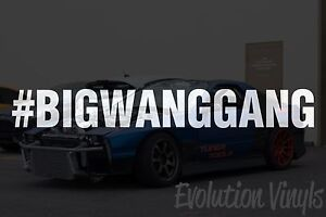 Bigwanggang V1 Decal Sticker Jdm Lowered Static Stance Low Drift Slammed