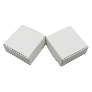 White Kraft Paper Box For Gift Craft Candy Jewelry Packaging Wedding Party Favor