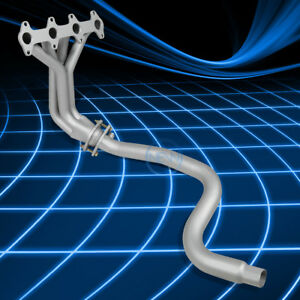 4 1 Silver Paint Finished Racing Manifold Header For 95 02 Cavalier Sunfire 2 2l