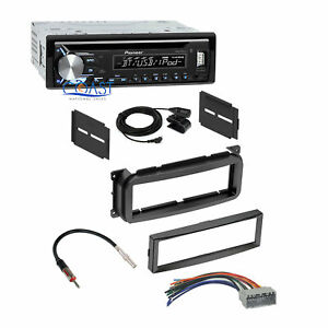 Pioneer Car Stereo Bluetooth Usb Dash Kit Harness For 02 up Chrysler Dodge Jeep