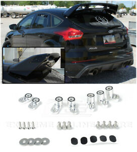 For 16 up Ford Focus Rs Anodized Silver Jdm Rear Wing Spoiler Riser Extender Kit